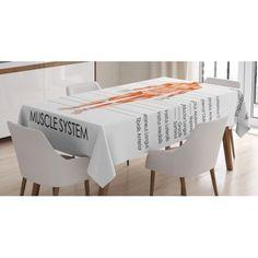 East Urban Home Human Anatomy Tablecloth Size: Picnic Tablecloth, Tablecloth Sizes, Tablecloth Fabric, Round Tablecloth, Fitted Tablecloths, Kitchen Tablecloths, Bamboo Table Runner, Striped Table Runner