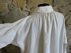 antique linen nightshirt size L, French home made country clothing by Histoires on Etsy