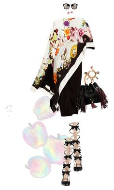 """""""Untitled #2019"""" by land ❤ liked on Polyvore featuring Gucci, Sara Battaglia, Linda Farrow, Alexander McQueen and Chanel"""