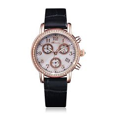 Rebela Womens Luxury Quartz Watch with White Dial and calfskin strap RLF2801L5A1 ** Want to know more, click on the image. (Note:Amazon affiliate link)