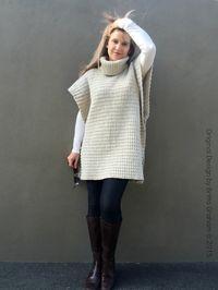Easy Crochet Poncho Pattern Modern Style No.932 Digital ePattern Instant Download