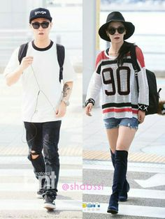20.08.2015 Our couple at Incheon Airport goes to Shanghai for Running Man Fan Meeting tomorrow~ #kanggary #songjihyo #mondaycouple #runningman