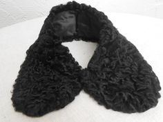 Vintage Black Persian Lamb Fur Collar. by ShopGlammasAttic on Etsy, $25.00