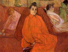 Henri de Toulouse-Lautrec (1864-1901) - At the Salon - The Divan. MASP (Museu de Arte de São Paulo), Brazil.