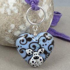 Lavender heart  Focal par Glasting sur Etsy, $65,00