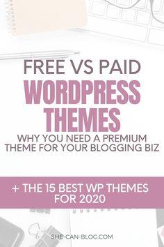 Kies je voor een gratis thema of een premium thema? En waarom zou je kiezen voor een premium WordPress thema als er zoveel gratis thema's verkrijgbaar zijn? Ik leg je in deze blog post uit waarom! En ik heb de mooiste elegante, vrouwelijke WordPress-thema's voor 2020 voor je uitgezocht!