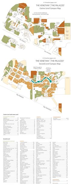 The Venetian Casino Property Map & Floor Plans - Las Vegas