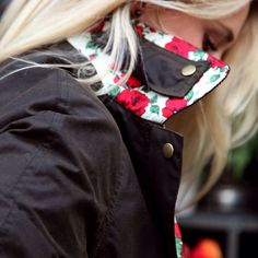 A #LibertyPrint Barbour will keep her warm and stylish during winter #GiftsForHer