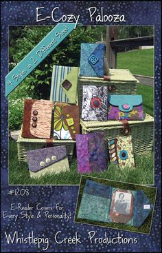 PDF  ECozy Palooza EReader Cover Sewing Pattern by WPCreek on Etsy, $8.00