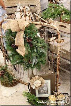vintage-christmas-outdoor-decoration-wreath