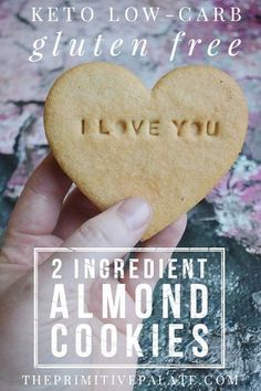 Keto Friendly, Low Carb, Sugar Free, Gluten Free! 2 ingredient almond cookies!