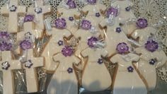 Sweet communion dress and cross cookies