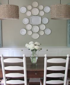 Neutral China Plate Wall Display
