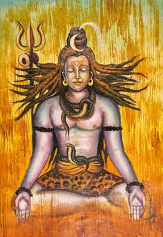 Buy Shiva in Meditation by Community Artists Group@ Rs. 7190. Code:ACHVEN03_2436 - Shop Art Paintings online in India.