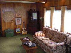 Modest Older Single Wide Mobile Home Living Room