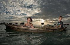 The Sea Gypsy Siblings  by Mata Arif, via 500px
