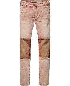 Heavy Washed Biker Pants | Pants | Girl's Clothing at Scotch & Soda