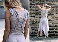 braided jersey dress