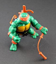 1988 Michelangelo Hardhead Ninja Turtles Figure TMNT by SmilingMemories on Etsy