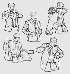 putting on suit drawing reference, put on jacket, clothing, getting dressed bowen inspo Suit Drawing, Drawing Base, Manga Drawing, Figure Drawing, Drawing Sketches, Art Drawings, Jacket Drawing, Dress Drawing, Anime Poses Reference