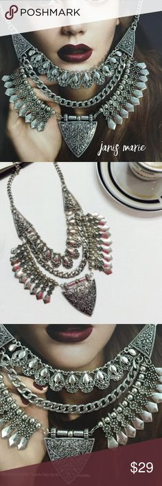 📌SPECIAL $19 • Gorgeous Statement Necklace • Silver Medallion Charms & Beads Adorn this Silver Tone Metal Finish • Five Star Seller Rating • Ships Next Business Day Excluding Weekends & Holiday • Additional Photos or Measurements Available on Request • Thank You For Shopping My Closet • Janis Marie Jewelry Necklaces