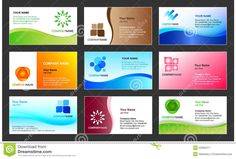 Vector Business Card Design Template  Business Card Design