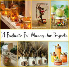 14 Fantastic Fall Mason Jar Projects