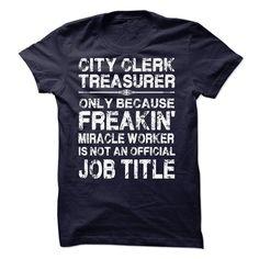 City Clerk Treasurer T Shirt, Hoodie, Sweatshirt