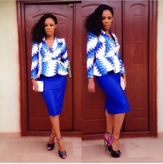 Look 3: Ada-Ankara Styles For Work
