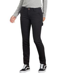 Women's Stretch Duck Carpenter Slim Pants, Rinsed Black Fashion 2020, Fashion Brands, Slim Pants, Women's Pants, Work Looks, Workout Pants, Black Pants, Work Wear, Pants For Women