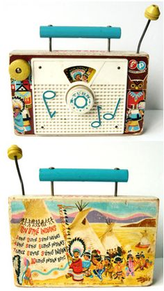 "VT126 - Fisher Price Music Box ""Ten Little Indians"" 60s"