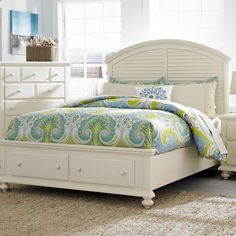 Seabrooke Cal King Panel Bed with Storage Footboard by Broyhill Furniture