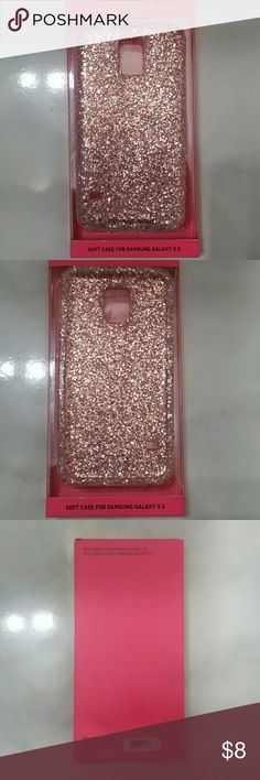 Samsung galaxy S5 cellphone case NEW !!Soft case for samsung S5 Victoria Secret, light PINK, sparkles/ glitter, gorgeous accessory for you phone Victoria's Secret Accessories Phone Cases