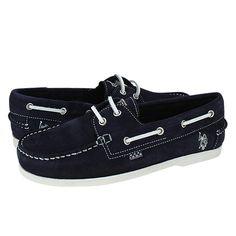 Sikasso - Ανδρικά παπούτσια U.S. Polo ASSN από καστορι με δερμάτινη φόδρα και συνθετική σόλα.  Διατίθεται σε χρώμα Μπλε.