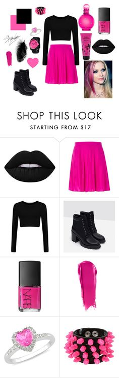 """avril lavigne Inspired"" by kimberly-pera on Polyvore featuring Lime Crime, Kenzo, Zara, NARS Cosmetics, Ice, Mia Bag, women's clothing, women, female and woman"