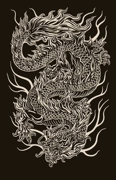 Chinese Dragon digital illustration… 2011 - Famous Last Words Dragon Chino Tattoo, Dragon Tattoo Art, Dragon Tattoo For Women, Japanese Dragon Tattoos, Dragon Artwork, Dragon Tattoo Designs, Arrow Tattoo, Japon Illustration, Dragons