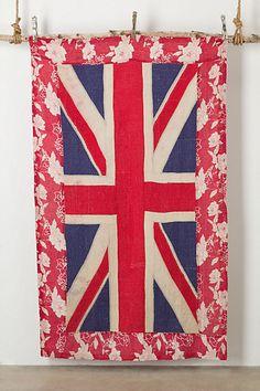Flag Blanket, Beige - Anthropologie.com