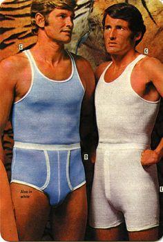 Why the long underwear pouch? - The Underwear Expert Long Underwear, Male Underwear, 70s Fashion, Vintage Fashion, Victorian Fashion, Vintage Underwear, Giraffe Print, Wedding Men, Moda Masculina