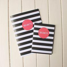 Perfect for little secrets and big secrets  #sparrowandwolf #notebooks #secrets #etsyelite #design #illustration