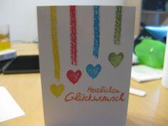 Geburtstagskarten. hängende Herzen