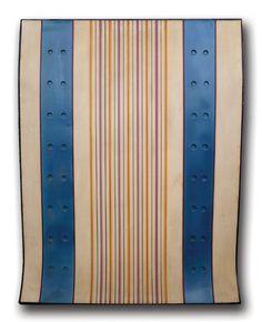 Galleria Marelia - Arden Quin Carmelo, Forme galbée, Serie Hal, Paris, 1971, tecnica mista su cartone curvato, cm 64x50