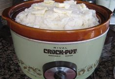 Crock Pot Mashed Potatoes save time and room on the stove!  www.getcrocked.com