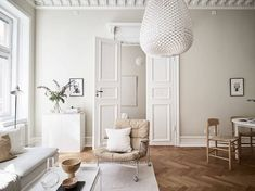 my scandinavian home: A Swedish Small Space apartment in cream and caramel Tones #sittingroom #livingroom #karinchair #neutrals #scandinavianhome
