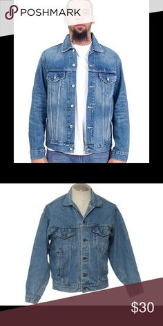 Levi's Men's Blue Jean Jacket Levi's Men's Blue Jean Jacket. Size is XL and color is blue. Jacket is in excellent condition having only been worn a few times. Pet free smoke free home. Next day shipping. levis Jackets & Coats Lightweight & Shirt Jackets