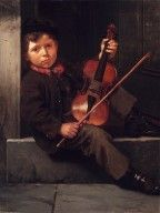 John George Brown- The Boy Violinist.  Saw this at the Parthenon gallery in Nashville!