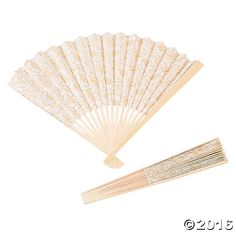 Perfect for outdoor weddings during the warm summer months, these Shabby Chic Lace Folding Fans also make great wedding decorations for that special day.  ...