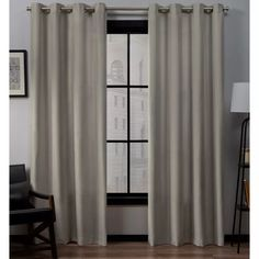 """Set Of 2 (108""""x54"""") Loha Linen Grommet Top Light Filtering Curtain Panel Winter - Exclusive Home : Target Outdoor Curtains, Home Curtains, Grommet Curtains, Window Curtains, Window Panels, Sheer Curtains, Decor Pillows, Drapery Panels, Colorful Curtains"""