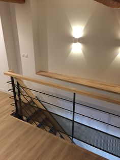 Staircase Remodel, Metal Homes, Improve Yourself, Sconces, Sweet Home, New Homes, Stairs, Loft, Lights