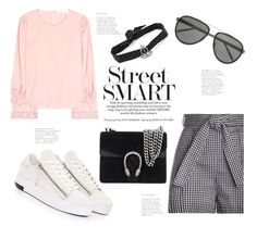"""""""Summer Street Chic"""" by badassbabyboomer ❤ liked on Polyvore featuring Zimmermann, See by Chloé, Yves Saint Laurent, Gucci and Linda Farrow"""