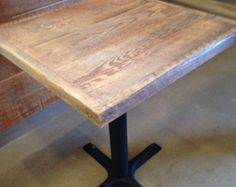 "Reclaimed Wood Table Top, 24 "" x 24""White weathered driftwood finish, Restaurant TABLE TOPS Custom made"
